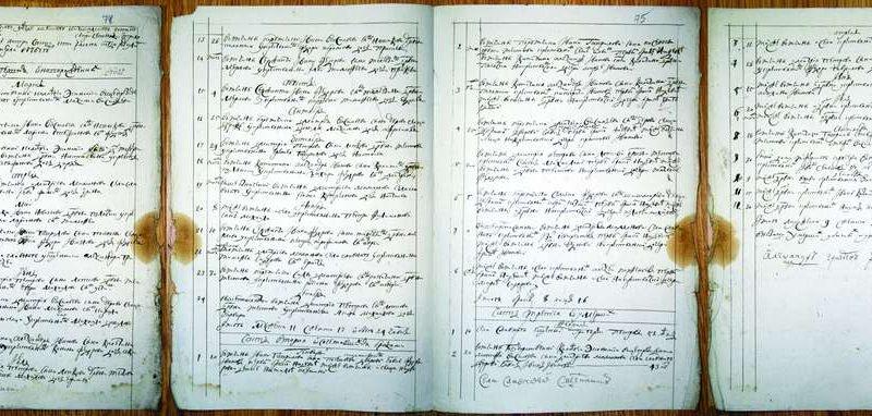 Метрическая книга 1767 год