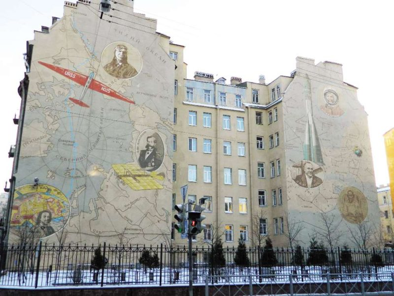 Брандмауэр на Петроградской стороне