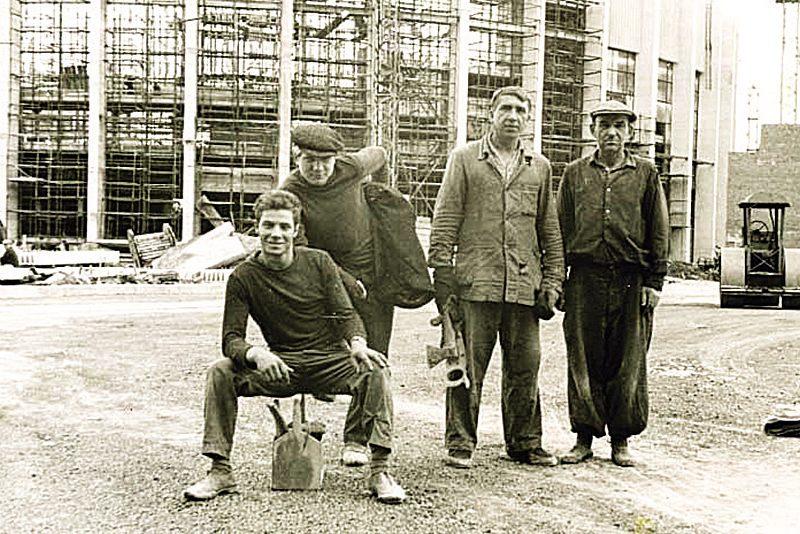 """Строительство ДС """"Юбилейный"""" 1967г."""