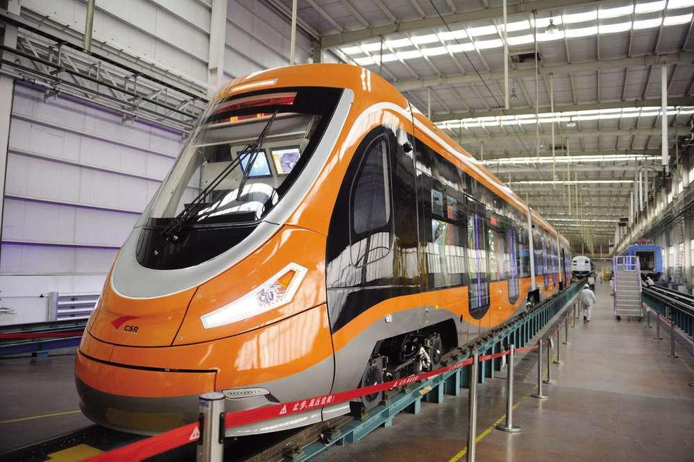 Китайский трамвай на водороде